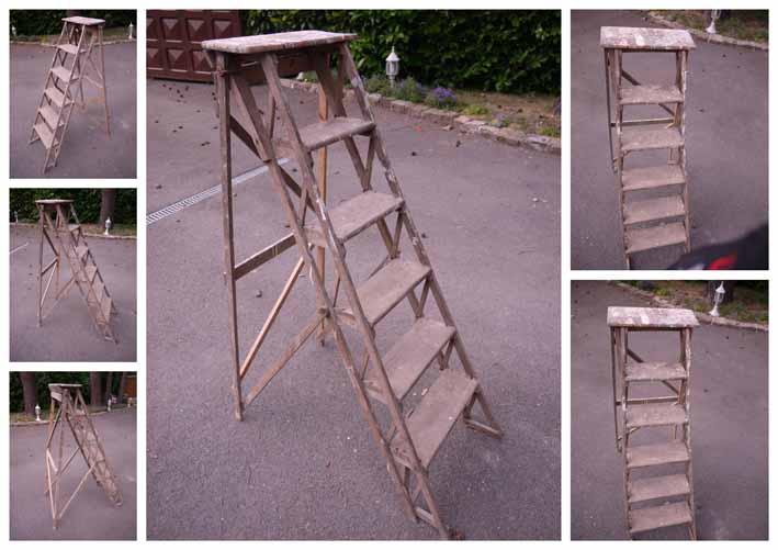 atelier le santer archives du blog ancien escabeau de peintre en bois. Black Bedroom Furniture Sets. Home Design Ideas
