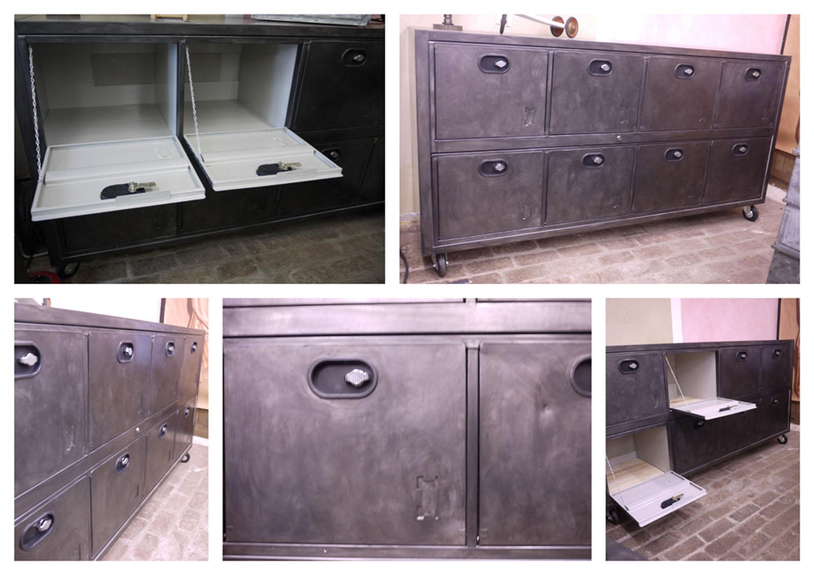 buffet metallique cr ation design industriel dans buffet buffet 8 portes 1024x723. Black Bedroom Furniture Sets. Home Design Ideas